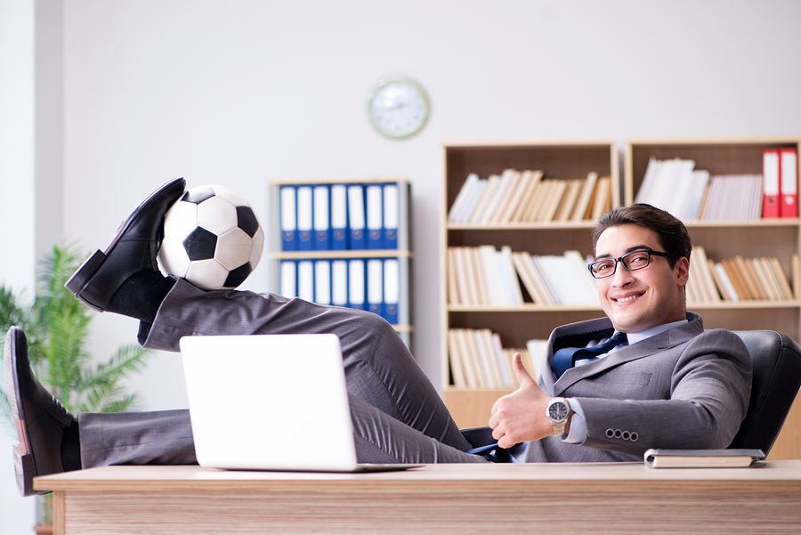 Employee with Soccer Ball | Creative Perks | Employee Retention